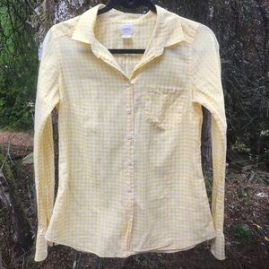 JCrew The Perfect Shirt Yellow Gingham